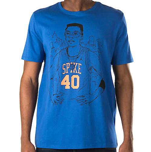 Men's Jordan T-Shirt Spike Lee 40 Short Sleeve 728530 480