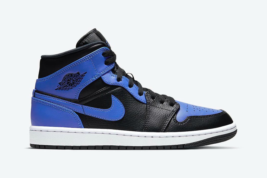 Mens Nike Air Jordan Retro 1 Mid 'Hyper Royal' 554724 077