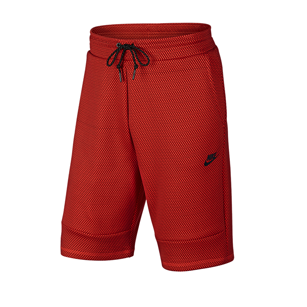 Men's Nike Shorts Tech Fleece 819598 657 Red/Black