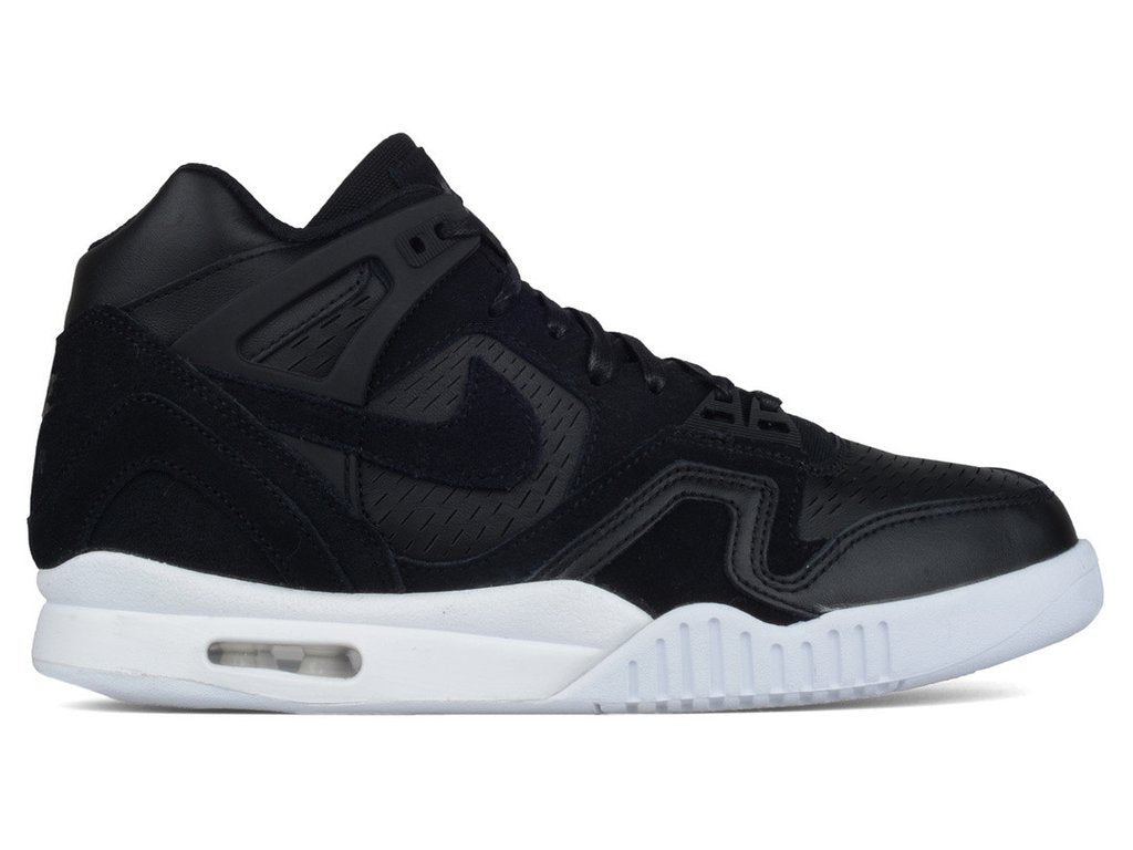 "Men's Nike Air Tech Challenge II Laser 832647 001 ""Black/White"""