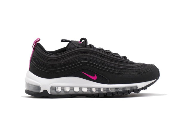 Grade School Youth Size Nike Air Max 97 Suede Black Pink 921523 001 f15b974fd