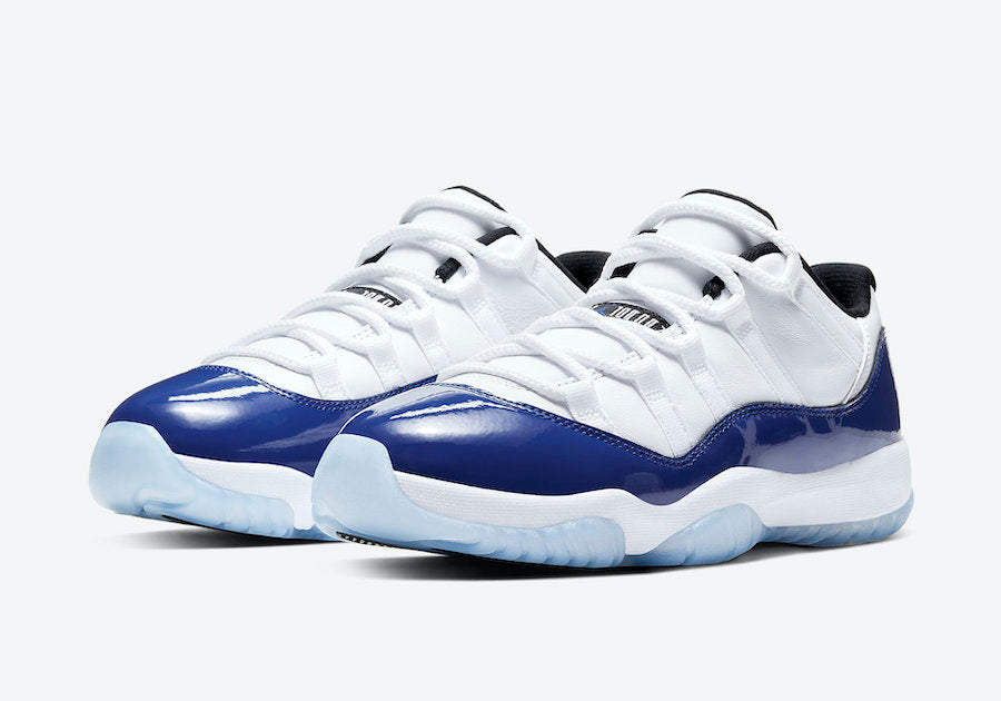 "Women's Nike Air Jordan Retro 11 Low ""Concord Sketch"" AH7860 100"