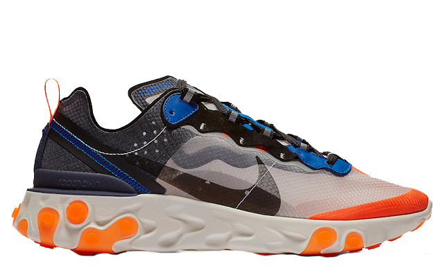 "Men's Nike React Element 87 ""Total Orange"" AQ1090 004"
