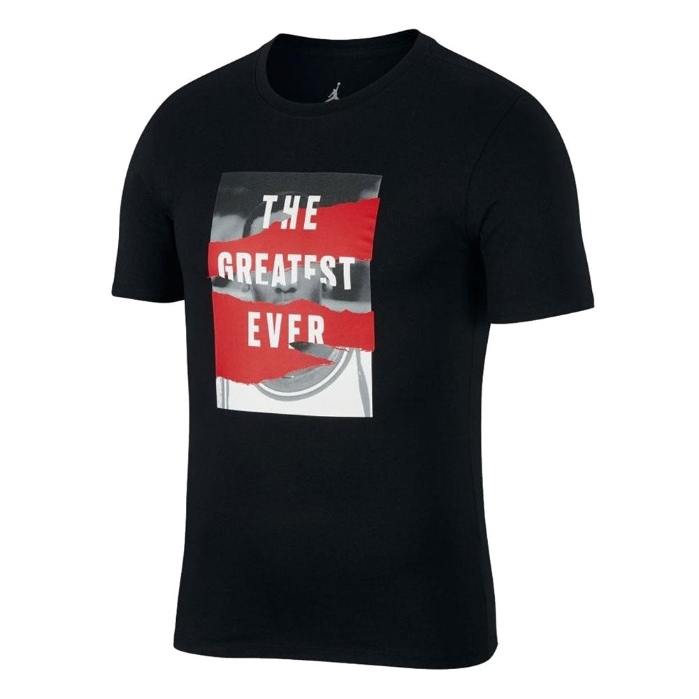 "Men's Jordan T-Shirt Heritage ""The Greatest Ever"" AH6318 010"