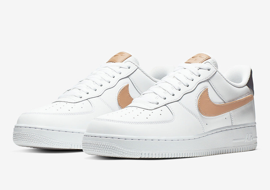"Men's Nike Air Force 1 Low '07 ""Removable Swoosh"" CT2253 100"