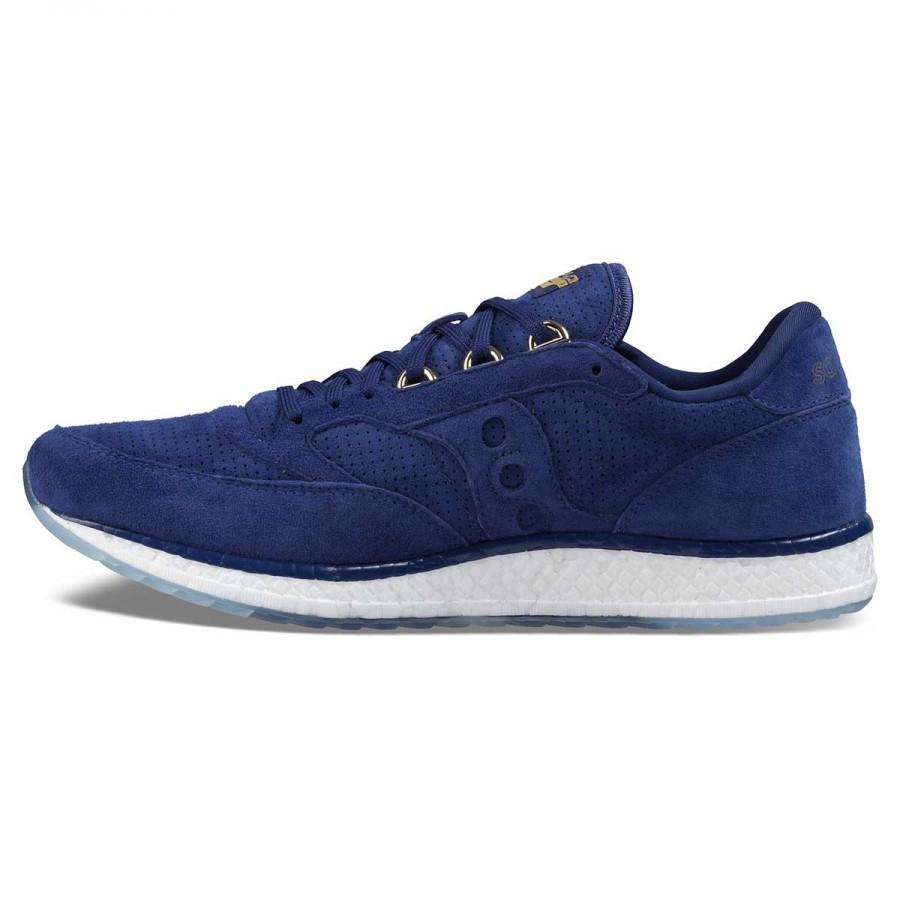 "Men's Saucony ""Freedom Runner"" Blue/Gold Suede S40001-1"