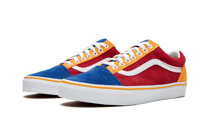 "Men's Vans Old Skool ""Corduroy-Primary"" VN0A4BV500Y"
