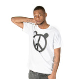 White Peace Panda T-Shirt