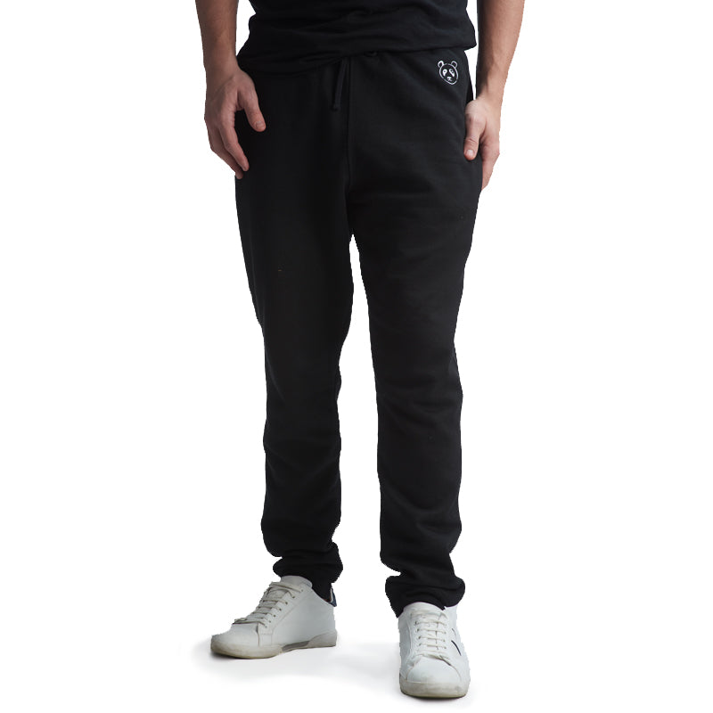 Black Signature Jogger Sweatpants - The Panda's Friend