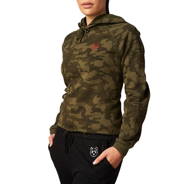 Camo Playful Panda Hoodie - The Panda's Friend