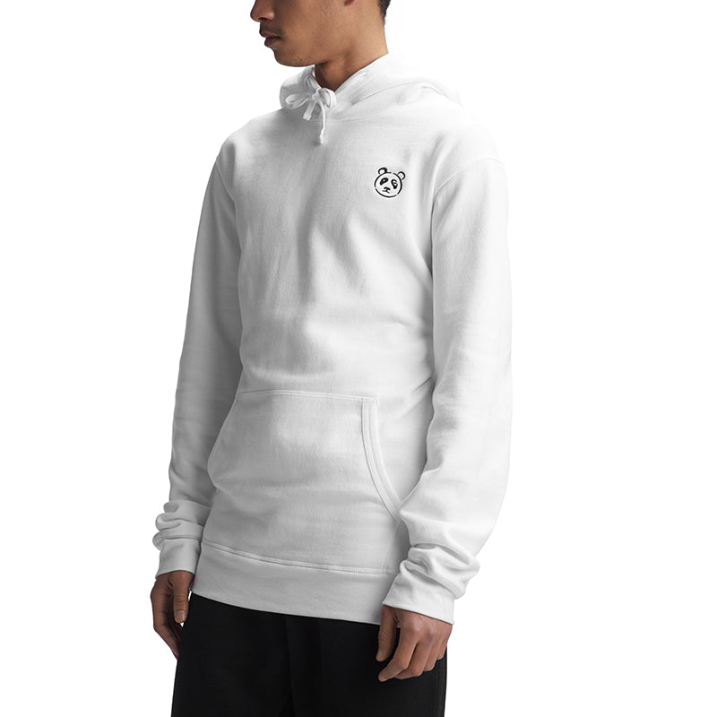 White Signature Pullover Hoodie - The Panda's Friend
