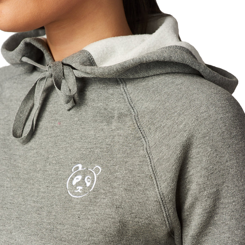 Grey Playful Panda Hoodie - The Panda's Friend