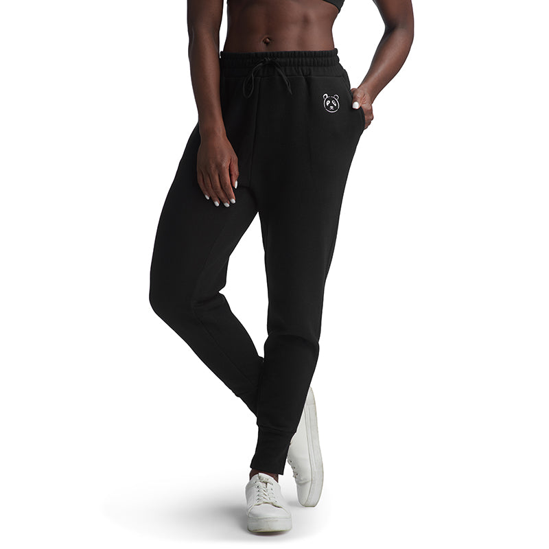 Black Signature Fleece Jogger - The Panda's Friend