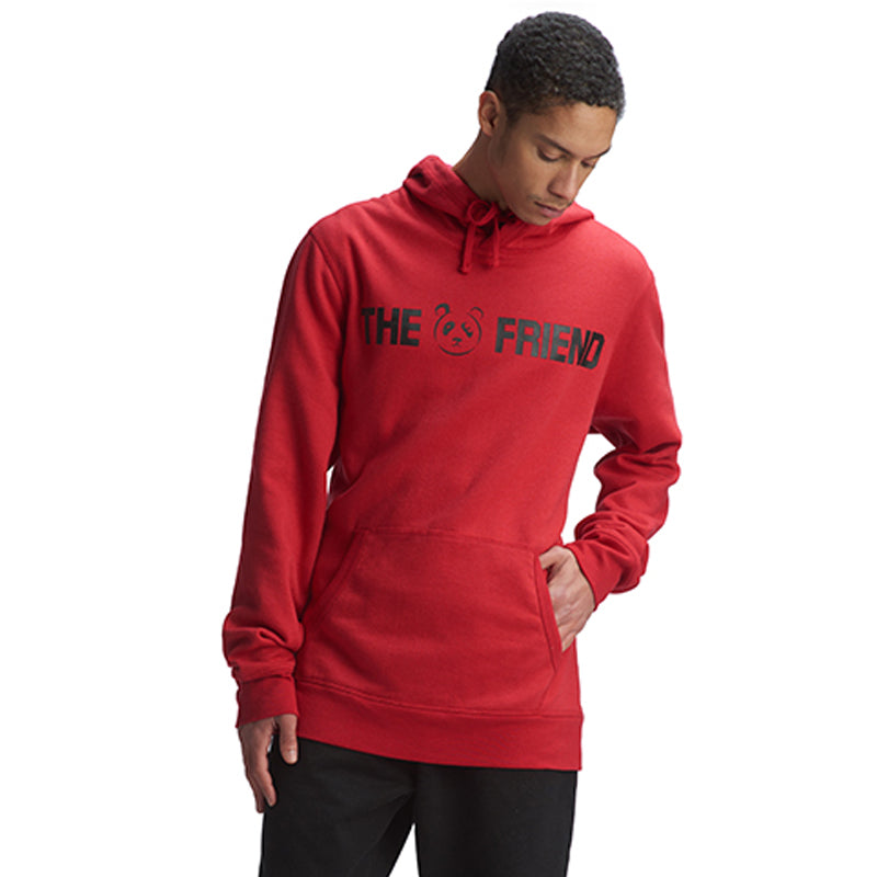Red Signature Friend Hoodie - The Panda's Friend