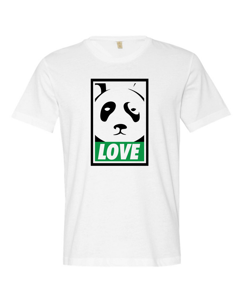 Love The Panda T-shirt (White) - The Panda's Friend