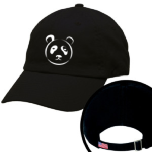 Black and White 6 Panel Hat With TPF Logo