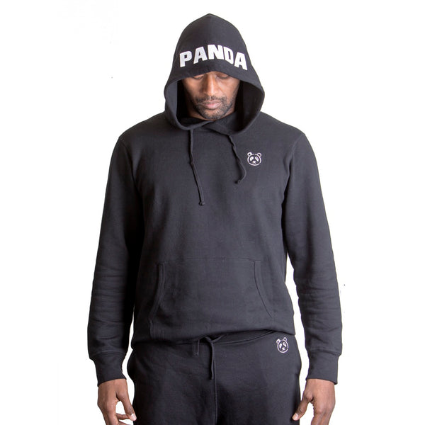 Black Signature Pullover Hoodie - The Panda's Friend