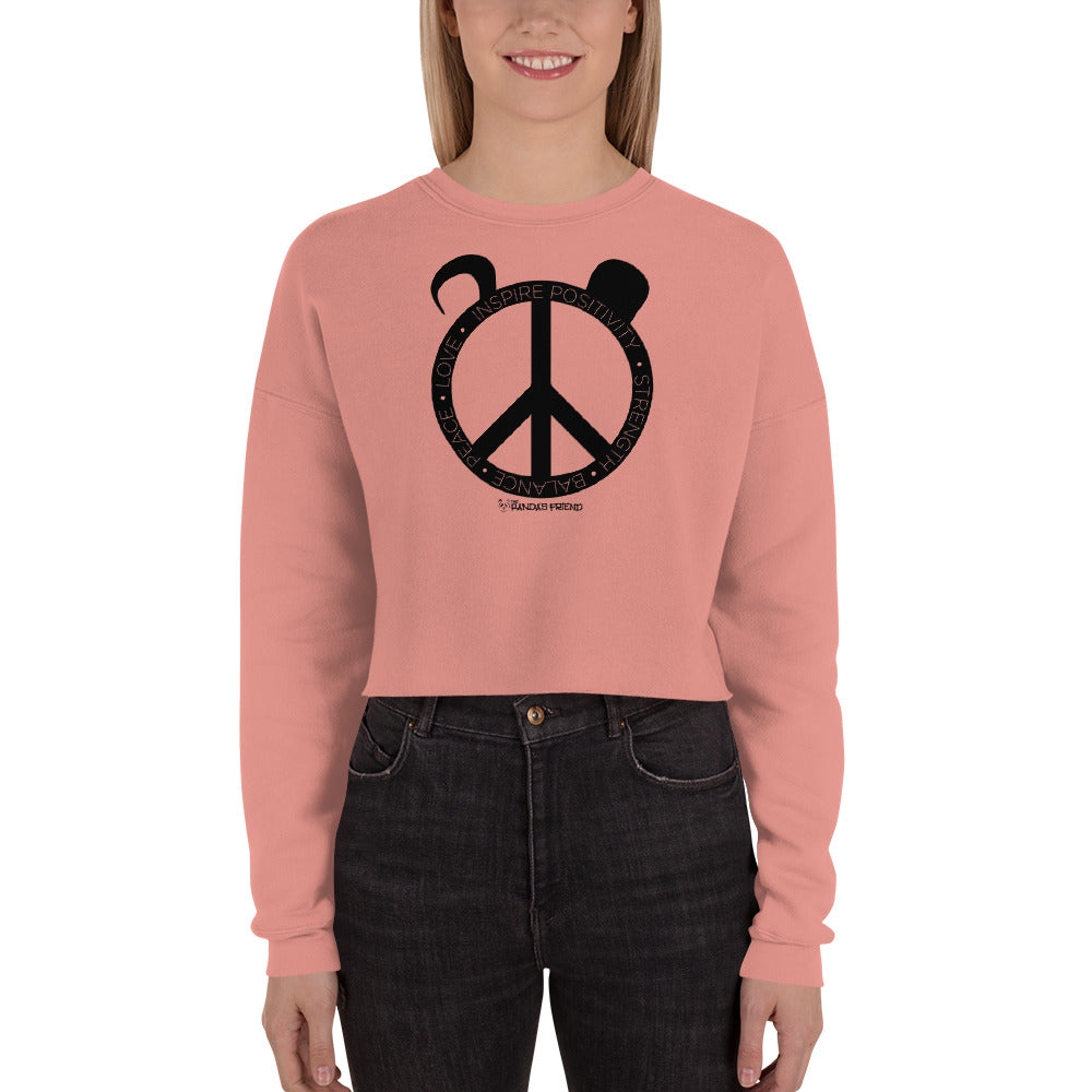 Peace Panda Crop Sweatshirt - The Panda's Friend