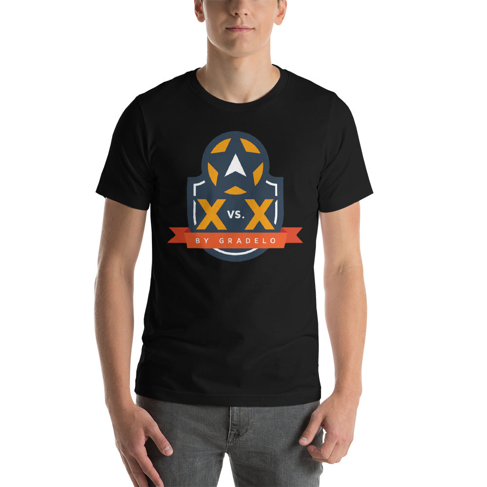 X vs X Short-Sleeve Unisex T-Shirt - The Panda's Friend