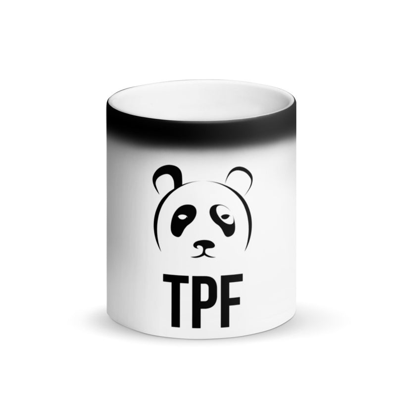 TPF Panda Matte Black Magic Mug
