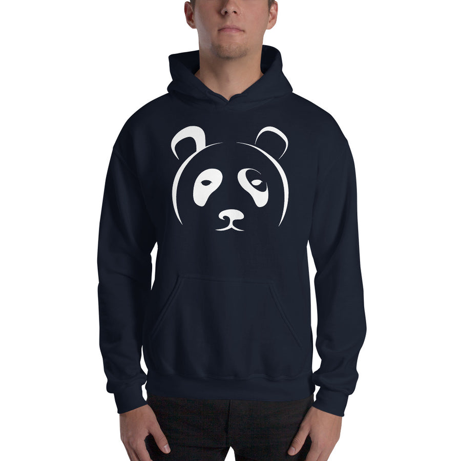Big Face Panda Hooded Sweatshirt