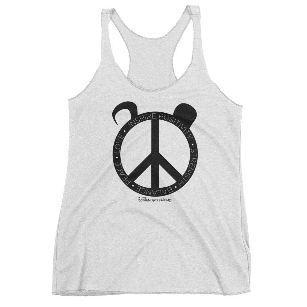 White Women's Peace PandaFit Tank