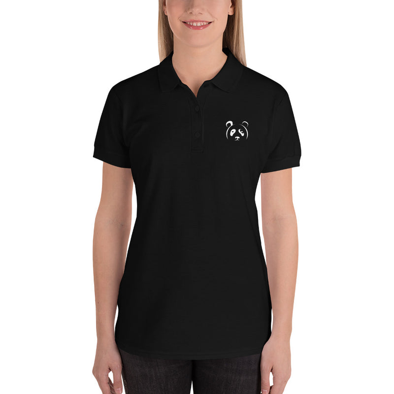 Embroidered Panda Polo T-Shirt