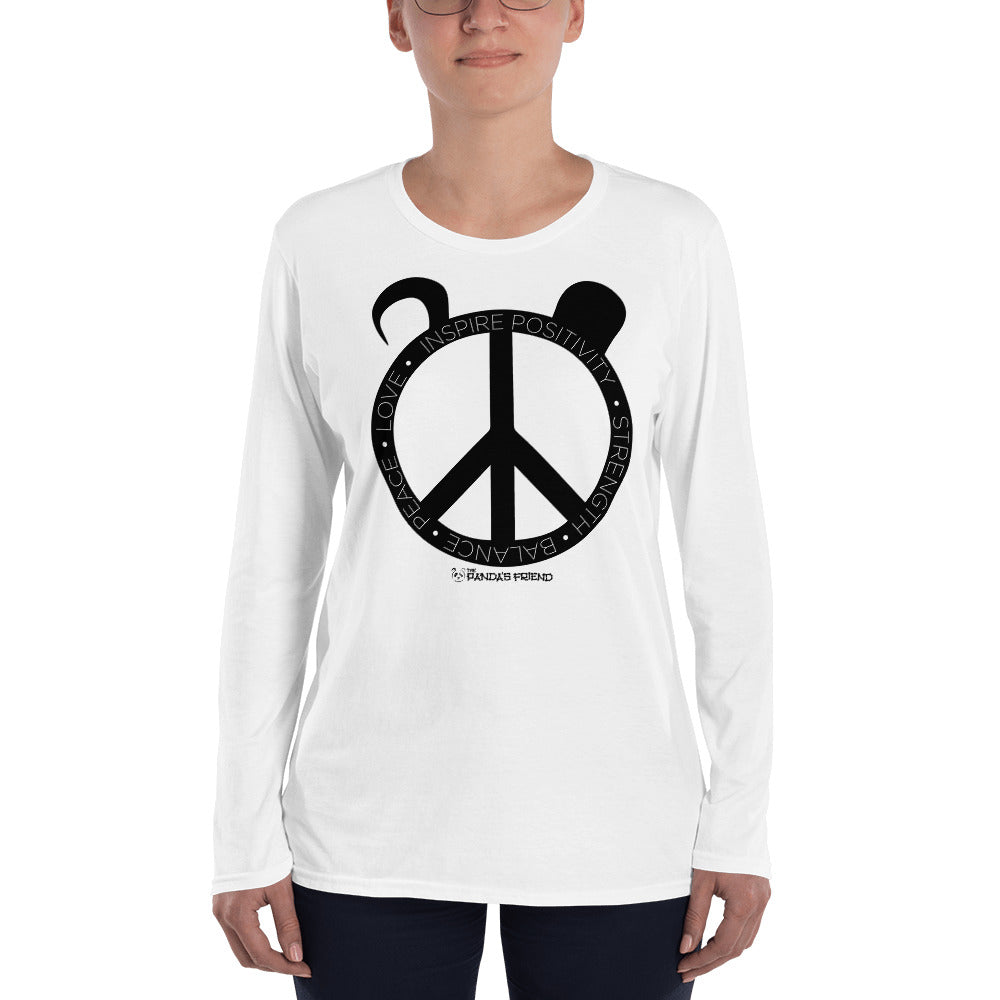 Peace Panda Ladies' Long Sleeve T-Shirt - The Panda's Friend