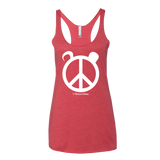 Womens Tank With Peace Panda Logo
