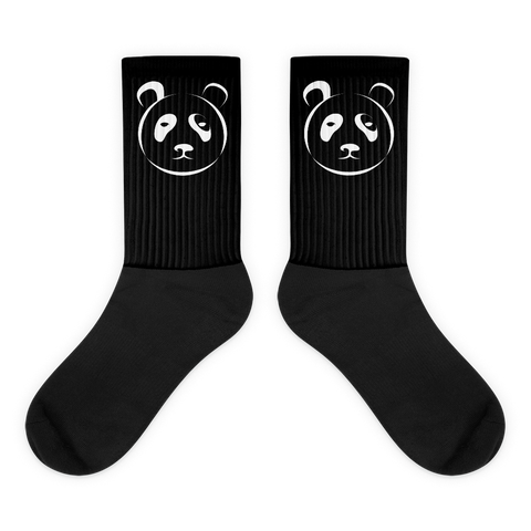 Black and White Panda Socks