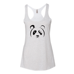 Women's White Panda Tank - The Panda's Friend