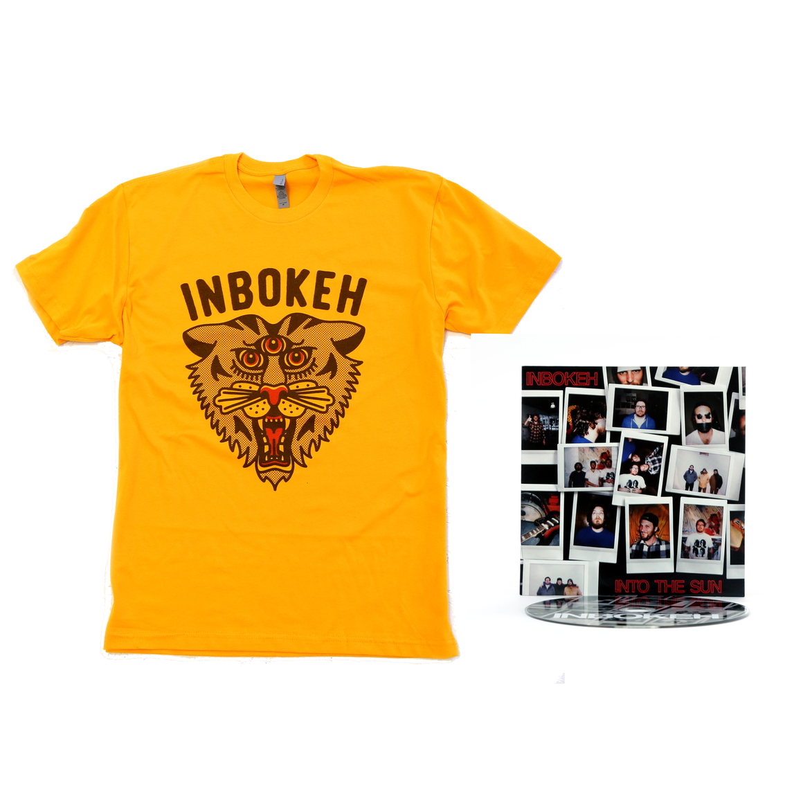 INBOKEH T Shirt and Into The Sun CD Bundle