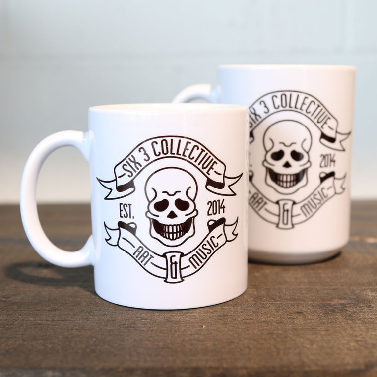 SIX 3 COLLECTIVE CLASSIC SKULL LOGO Ceramic Coffe Mug