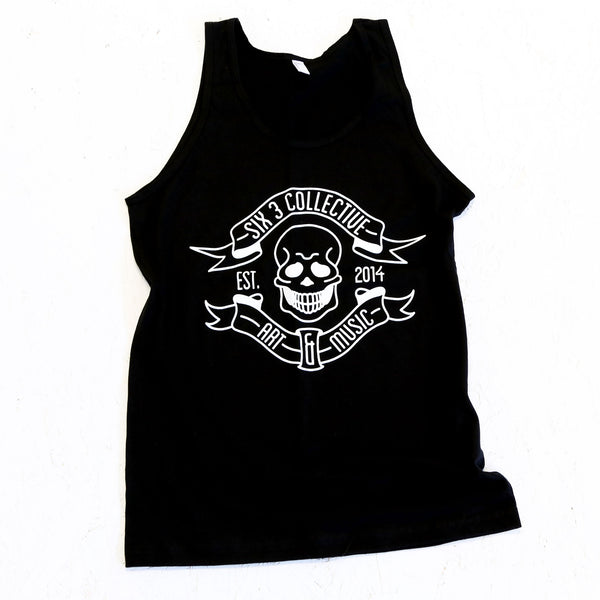 SIX 3 COLLECTIVE Classic Logo Black Tank Top