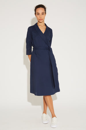 Aegean Linen Wrap Dress Thumbnail