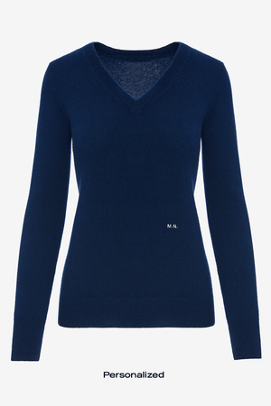 Cashmere V-Neck - Personalized