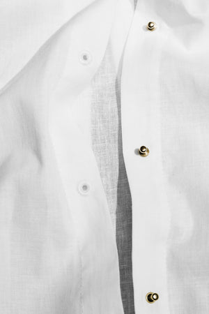 The Husband Shirt Linen with Gold Studs Thumbnail