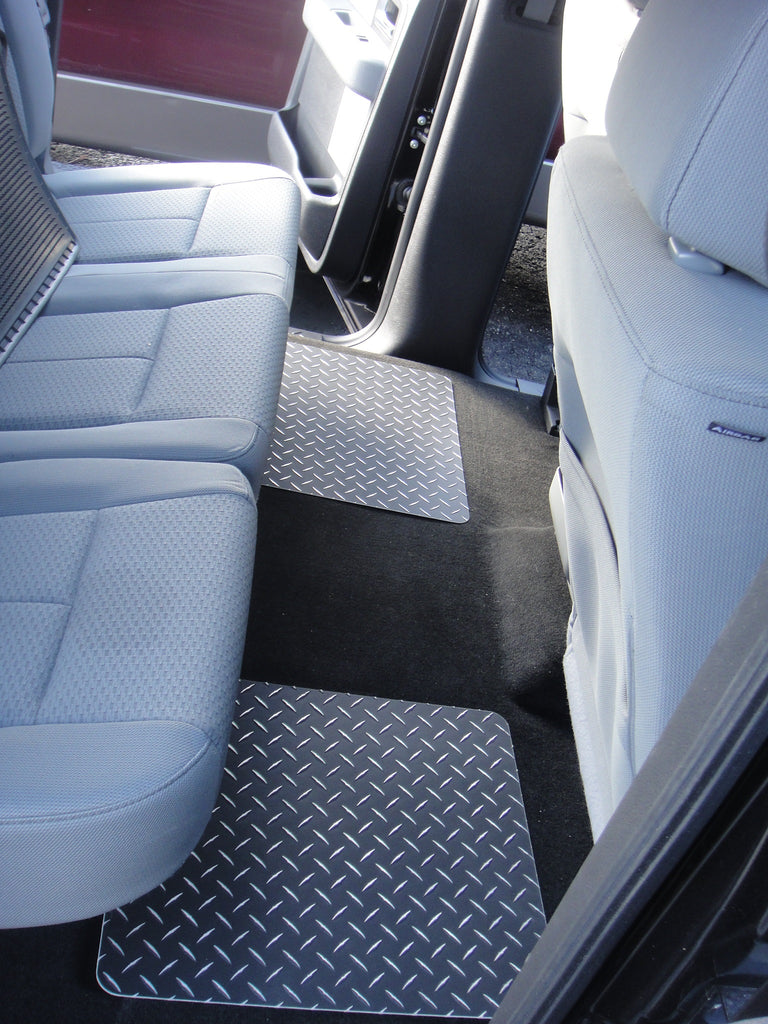 Ford F-150 15-19  Black metal diamond aluminum  floor mats