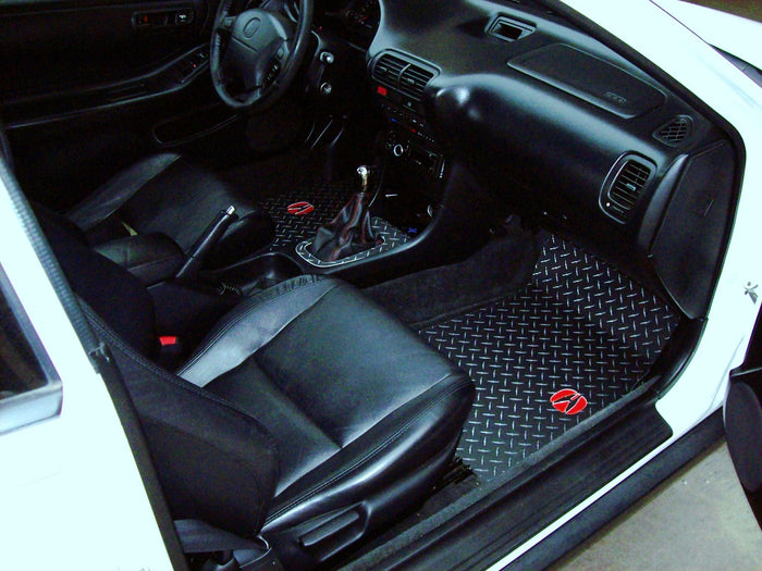 Acura Integra  94-01  diamond plate aluminum floor mats 2 Door
