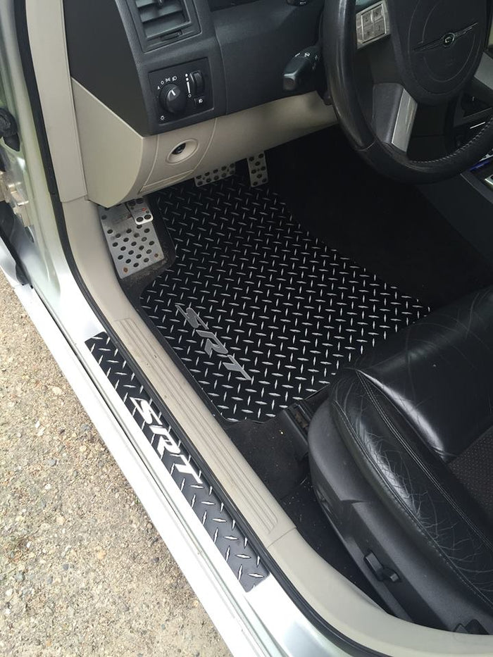 Crysler 300 05-10 SRT-8 Black METAL diamond aluminum floor mats