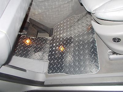 BMW X5 99-06  aluminum floor mats.  Real METAL custom fit front 4pc  L + R