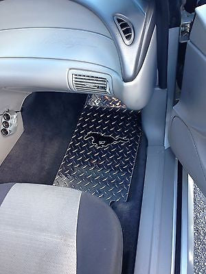 Mustang 93-04 PONY polished diamond plate floor mats