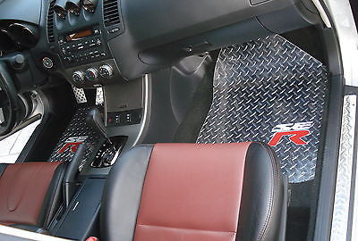 Nissan Altima SER 02-07 Polished aluminum diamond plate  floor mats front and rear