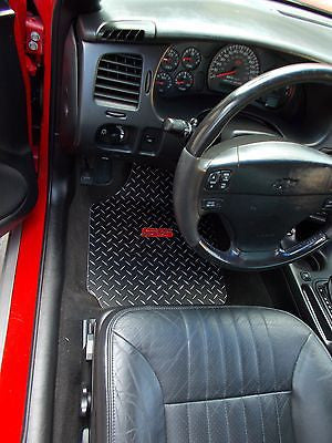 Chevrolet Monte Carlo SS  00-07 diamond plate Metal floor mats.  Black metal diamonds Front rear