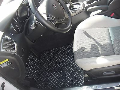 Hyundai Genesis Coupe Black diamond plate metal floor mats