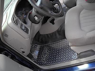 S10 97-06 diamond plate metal floor mats.  Polished finish
