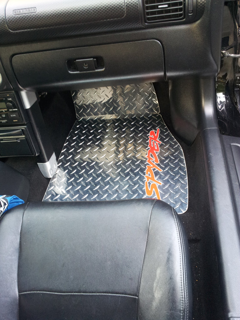 Toyota MR2 Spyder 99-07   Polished diamond plate aluminum floor mats