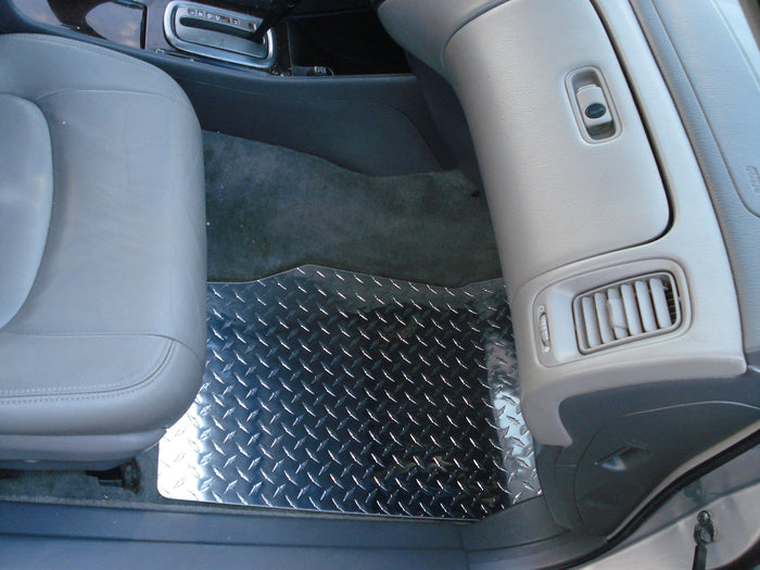 Accord 98-02 coupe  Diamond plate aluminum floor mats Polished finish front rear