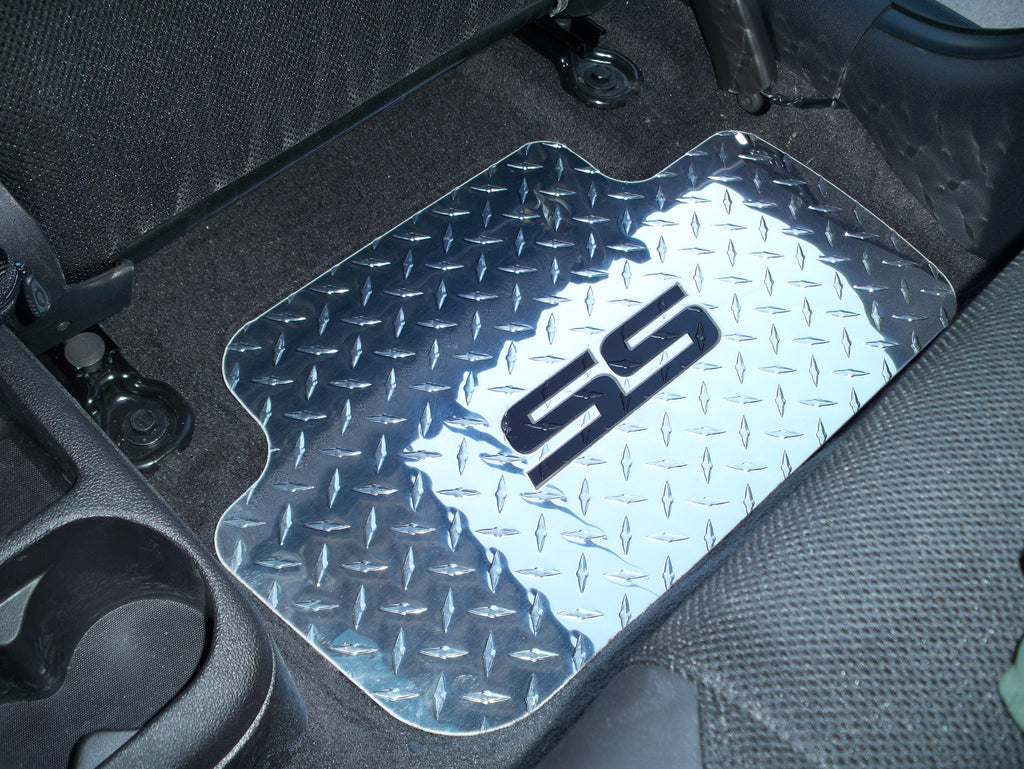 Chevrolet Cobalt SS 05-10 Polished  aluminum diamond plate floor mats real Metal