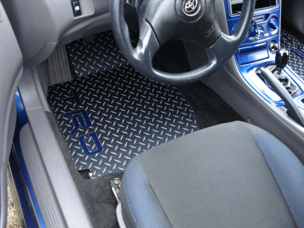 Celica  99-05   Aluminum diamond plate floor mats  Black powder coated